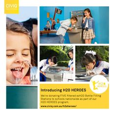 We will be donating Five filtered drinking water fountains for schools nationwide as part of our Heroes program. Drinking Water Bottle, Drinking Fountain, Filling Station, Very Excited, Schools, Sustainability, Children, Kids, Competition