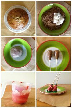 How To Make Berry Cake Pops  #cake #cakepops #berry
