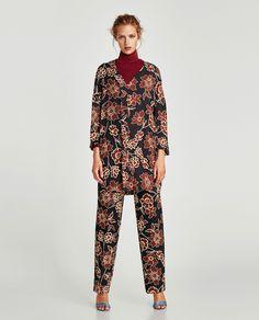 ffa66b845f Image 1 of FLORAL PRINT DRESS WITH RUFFLE from Zara Vestidos Estampados