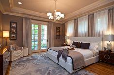Belle couleur taupe pour la couleur de votre chambre à coucher moderne