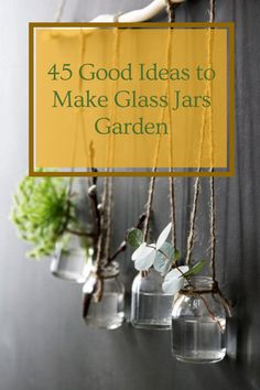 45 Good Ideas to Make Glass Jars Garden for your Home Decor #glass #glassjar #jargarden Amazing Decor, Glass Jars, Good Things, Bedroom, Creative, Garden, How To Make, Ideas, Home Decor
