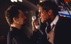 "Gary Oldman and Harrison Ford in ""Air Force One"""