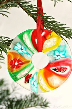 Homemade candy ornaments for christmas tree