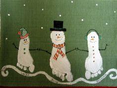 Petjades ninot de neu