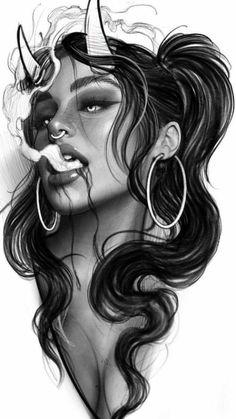 Dark Art Drawings, Tattoo Design Drawings, Tattoo Sketches, Tattoo Designs, Dark Art Illustrations, Chicano Art Tattoos, Gangster Tattoos, Stencils Tatuagem, Tattoo Stencils