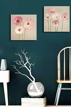 Isn't this wall art pretty? Floral wall art is beautiful and there are so many types of flower wall art from Aster, Carnation, Chrysanthemum, Daffodil, Hyacinth, Hydrangea ,Iris, Lilac, Lily, Orchid Flower Wall Art Peony, Rose sunflower floral wall art.