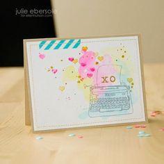Watercolor XO Valentine's Day Card