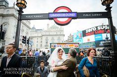 Piccadilly Circus, wedding photography, London wedding, Martin Beddall Photography, english-Wedding.com