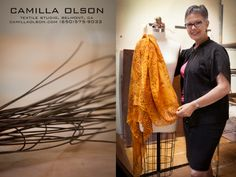 Designer Camilla Olson -- former microbiologist who launched her fashion career at age 57.