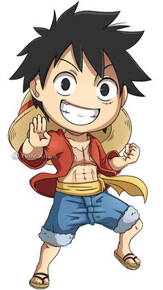 One Piece: Luffy 2013 Chibi by Kanokawa on deviantART