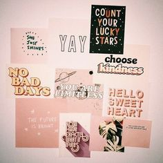 27 Ideas Wall Collage Quotes Dorm Room For 2019 Bedroom Inspo, Bedroom Decor, Wall Decor, Photo Pour Instagram, Photowall Ideas, Wallpaper Wall, Room Goals, Aesthetic Rooms, Home And Deco