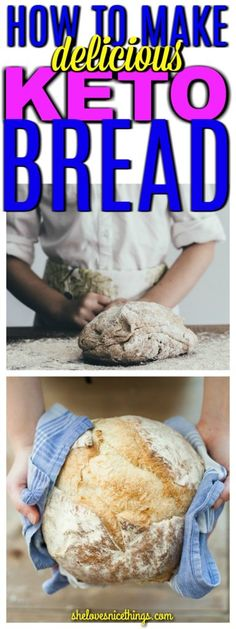 How to make Keto Diet Bread - Click the pin to get the best keto diet bread recipes if you're finding that your keto bread recipes are tasting a bit 'eggy', here are a few that I found don't taste that way. Try the 4 way keto bread recipe! It's amazing! #keto #ketodiet #lowcarb #diet