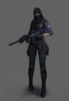 Female Character Design, Character Concept, Character Art, Chica Fantasy, Fantasy Girl, Fantasy Warrior, Fantasy Rpg, Female Armor, Military Girl