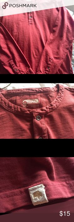 Men's Henley classic style shirt. mountain khakis Henley mountain Khakis Shirts Tees - Long Sleeve