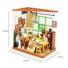 Casute de Papusi   Cutiute muzicale   Diorame - DinPovesti.ro Dollhouse Toys, Wooden Dollhouse, Dollhouse Furniture, Dollhouse Miniatures, Girls Bedroom Furniture, Tiny Furniture, Furniture Plans, Led Furniture, Diy Bedroom