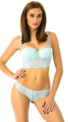 f7163a5750cf3 Blue Endless Love Longline Bra Set Endless Love
