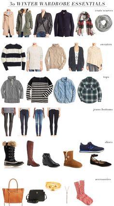 30 winter wardrobe essentials...