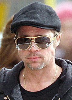 23afeb0266 46 Best Celebrity Eyewear- Brad Pitt + Angelina images