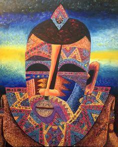 John Mainga- Melting Moments - Acrylic on Canvas - 55 x 45 cm Melting Moments, African Artists, Contemporary Art, Mona Lisa, Art Gallery, In This Moment, Canvas, Artwork, Tela