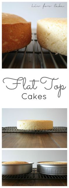 Learn how to get perfectly flat cakes every time!   http://livforcake.com