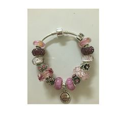 European style bracelet European style bracelet7.5 inch of length handmade with murano glass beads and charms Jewelry Bracelets