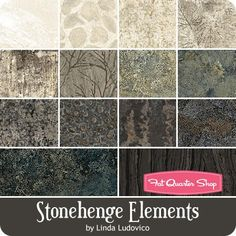 Stonehenge Elements Fat Quarter Bundle <BR>Linda Ludovico for Northcott Fabrics