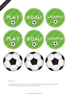 soccer cupcake toppers and free soccer party printables