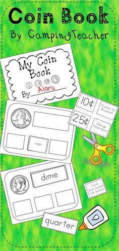 Coin Book kindergarten and 1st grade.  Great center activity for math!