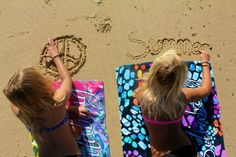 writing in the sand would be cute at the beach summer shoot