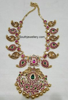 Mango Necklace latest jewelry designs - Page 13 of 42 - Indian Jewellery Designs Antique Jewellery Designs, Gold Jewellery Design, Antic Jewellery, Temple Jewellery, Buy Gold Jewellery Online, Latest Jewellery, Bijoux En Or Simple, Collier Antique, Mango Necklace