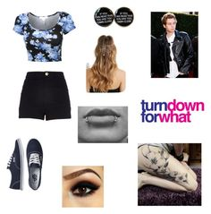 """""""Clubbing with Luke"""" by abbeynewberry ❤ liked on Polyvore featuring River Island, Vans and Forever 21"""