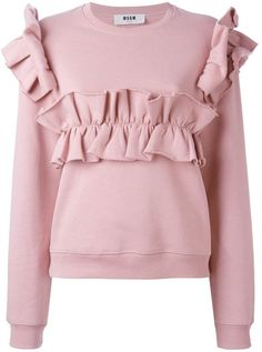 MSGM ruffled sweatshirt | FARFETCH saved by #ShoppingIS