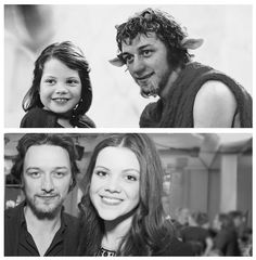 Lucy and Tumnus, then and now.