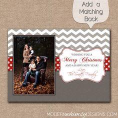 Photo Christmas Card Chevron  Merry by ModernWhimsyDesign on Etsy, $14.00