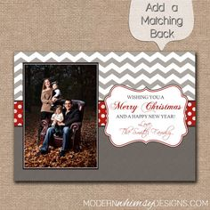 Photo Christmas Card Chevron  Merry by ModernWhimsyDesign on Etsy, $14.00
