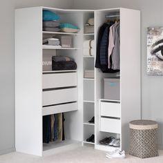 Armoire de rangement en angle Blanc écorce - Méo - Les armoires à composer - Armoires et penderies - Tous les meubles - Décoration d'intérieur - Alinéa