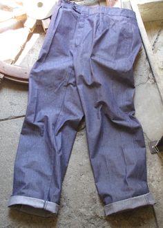 Marine Nationale Denim Work Trousers