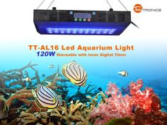 TaoTronics® TT-AL16 120w Dimmable Timmer Led Aquarium Light Coral Reef Tank Light with Moonlights,Dimmable with Inner Digital Timer, Optical lens in High Par Value (Dimmable and Timmer) - http://www.thepuppy.org/taotronics-tt-al16-120w-dimmable-timmer-led-aquarium-light-coral-reef-tank-light-with-moonlightsdimmable-with-inner-digital-timer-optical-lens-in-high-par-value-dimmable-and-timmer/