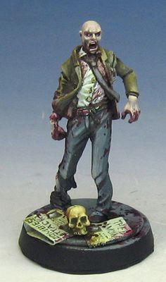 A zombie by James Wappel Miniature.