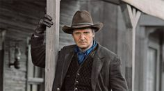 He's the action hero of the moment, but in the ribald new comedic western 'A Million Ways to Die in the West,' Liam Neeson tries on his bad guy.