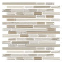 Chatham Blend Stria with Glass Stone Mosaic Tile - 12 x 12 in. $19.99 Sq Ft      Coverage 10.00 Sq Ft per  Box