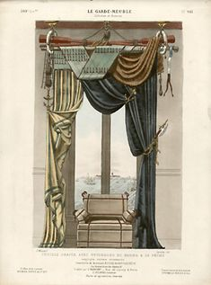 George Glazer Gallery - Antique Prints - Le Garde-Meuble Ancien et Moderne. French Interior Design Prints, Mid 19th Century