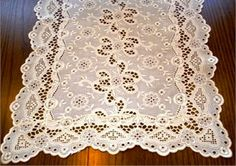 Vintage Ivory Eyelet Runner  3 Available by MHCottageTreasures