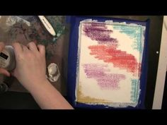 Mixed Media Canvas with Texture LUXE Pearl by Jill Foster - YouTube