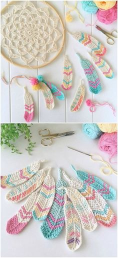 http://craft-addicts.com/index.php/2016/03/17/how-to-crochet-tunisian-feathers-free-pattern/
