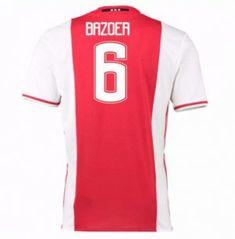 16-17 Ajax Home #6 Bazoer Cheap Replica Jersey [G00710]