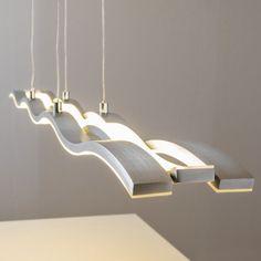 LED Pendelleuchte Design Hängeleuchte Esszimmer Pendellampe Wohn Zimmer 42 Watt…