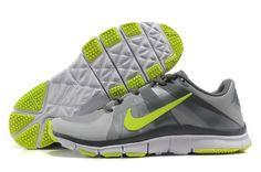 N460z Nike Free Ausbilder 5.0 Herren Trainingsschuh Grau / Volt-Weiß