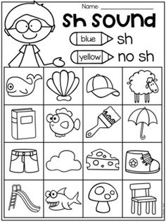 Free Digraph Worksheets - ch, th, sh by My Teaching Pal Digraphs Worksheets, Blends Worksheets, Homeschool Worksheets, First Grade Worksheets, Homeschooling, Vowel Digraphs, Sh Words, Blends And Digraphs, English Phonics