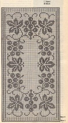 filet crochet Kira scheme crochet: Scheme crochet no. Filet Crochet Charts, Crochet Cross, Crochet Diagram, Thread Crochet, Crochet Motif, Crochet Designs, Crochet Doilies, Crochet Flowers, Crochet Stitches